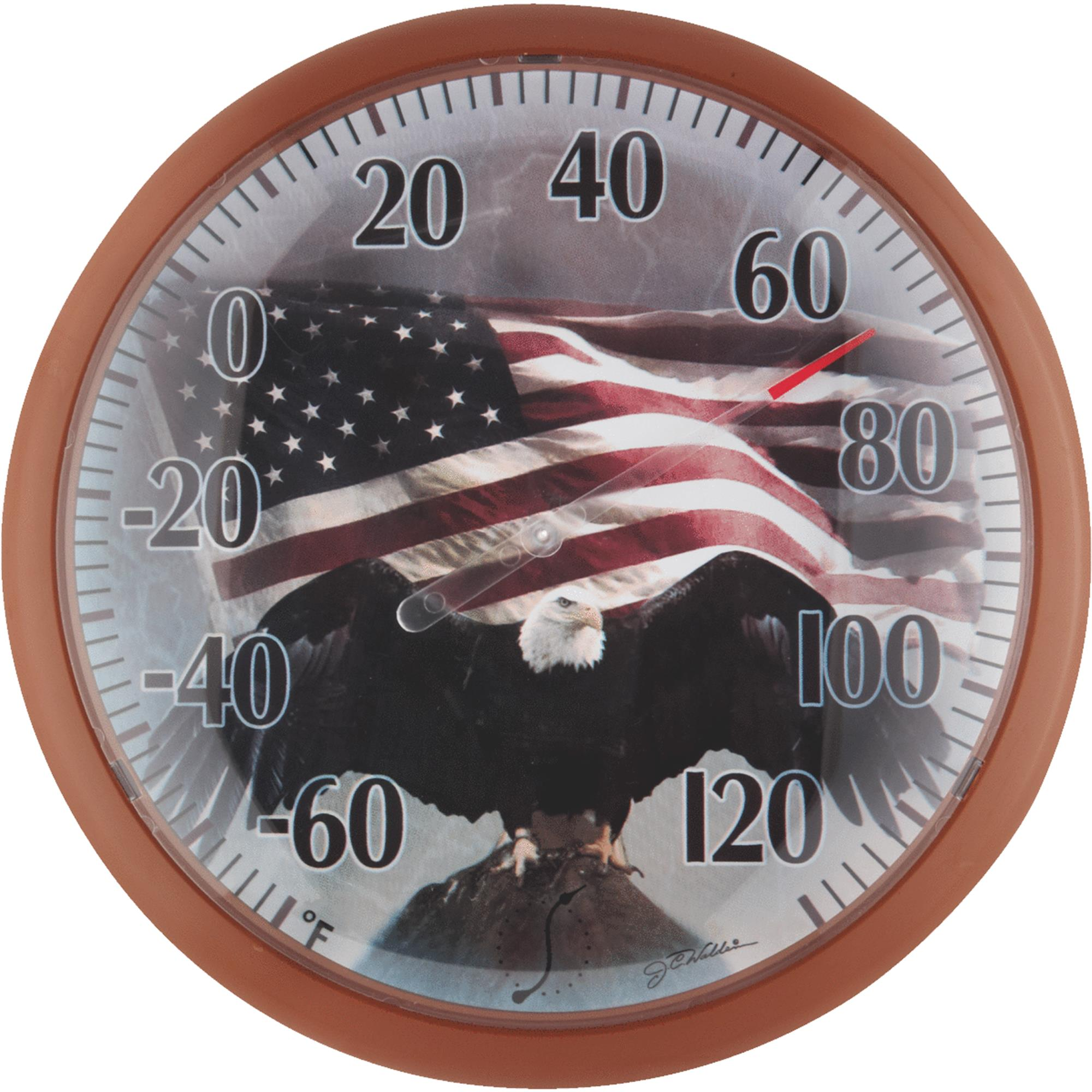 13-Inch Bald Eagle Outdoor Thermometer by Taylor Precision