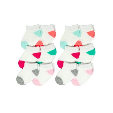 Low Cut Fashion Socks, 12-pack (Newborn Baby