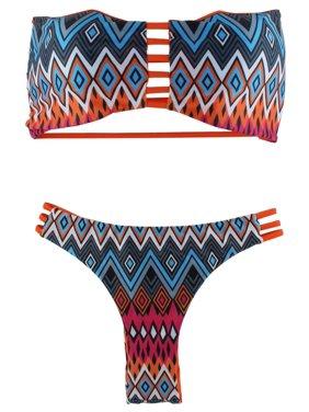 0f7f2a1505 Product Image Womens Ruffle Padded Bikini Set Swimsuit Bathing Beach  WearOrange L