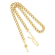 Charles Hubert Gold-plated Brass 14.5 Inch Pocket Watch Chain
