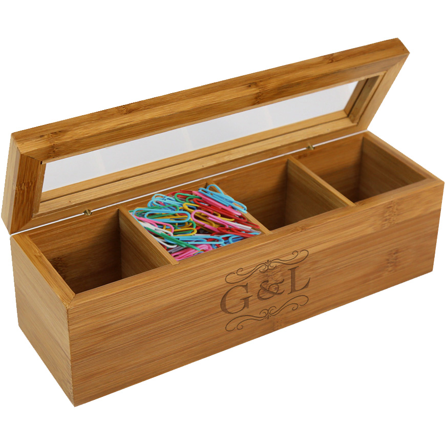 Personalized Initial Wood Storage Box