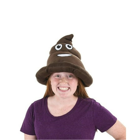 Party Hat Emoji (Emoji Poop Hat Poo Shape Head Cell Phone Emoticon Text Message Soft Cap)