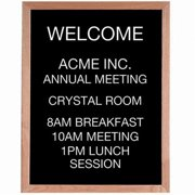 Aarco Products AOFD3024 Open Face Wood and Felt Changeable Letter Board