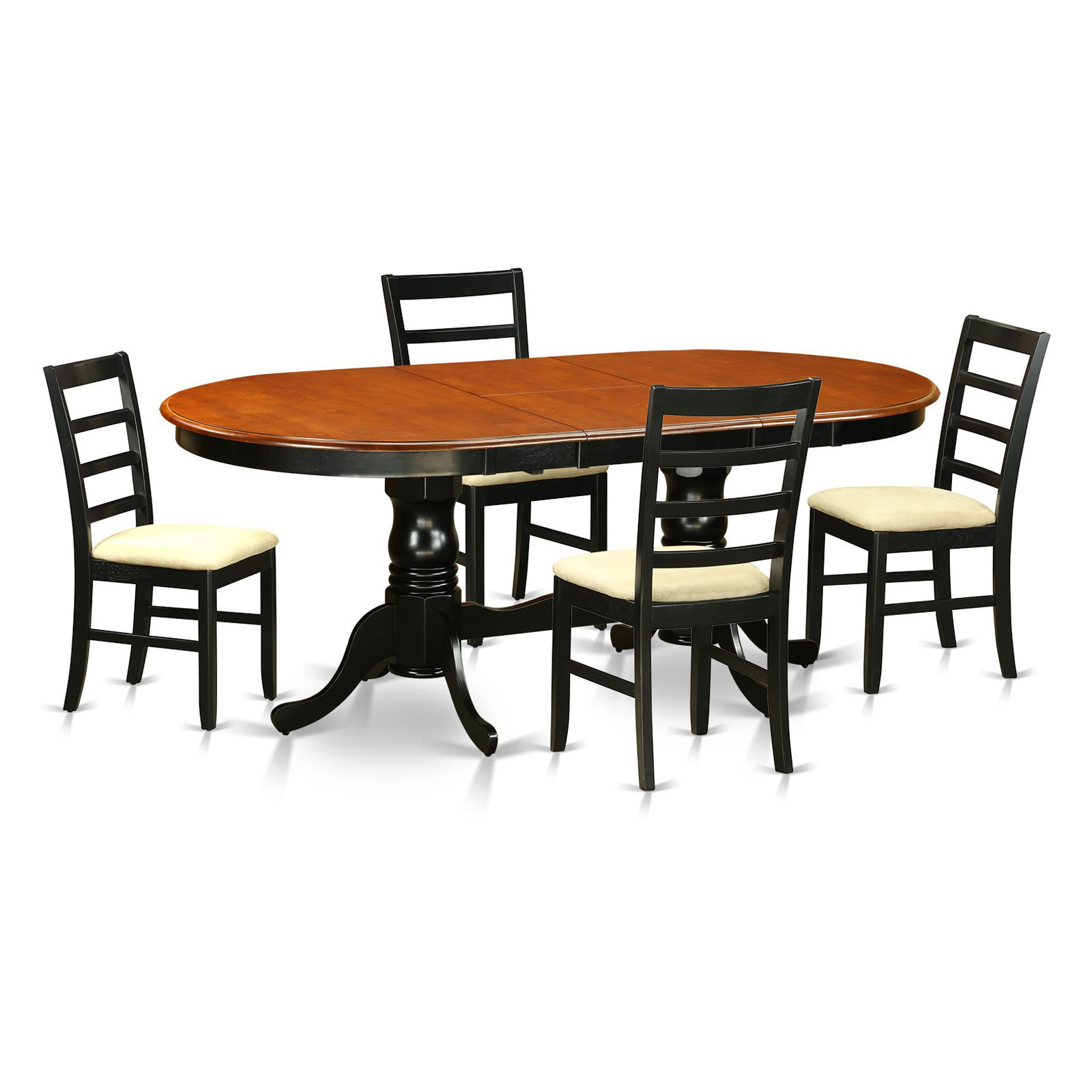 East West Furniture Plainville 5 Piece Shaker Dining Table Set