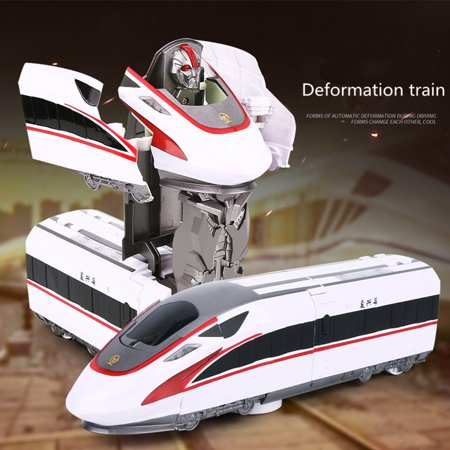 BEAD BEE Transformation Robot Train Model Classic Toy Action Figure Gift Children