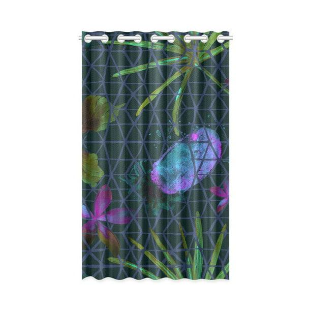 MKHERT Watercolor Pineapple Window Curtain Living Room