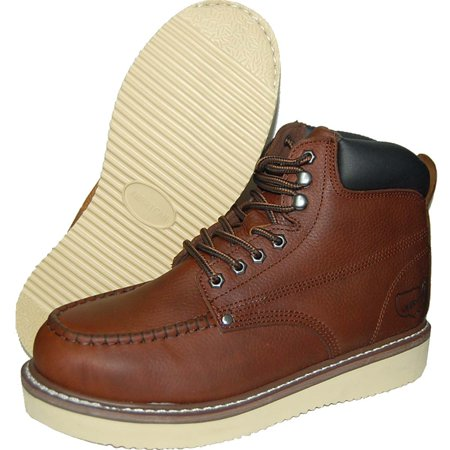 b6f892df276 Krazy American Leather 6 Inch Light Weight Construction Moc Toe Men's Work  Boots | Insulated | Brown