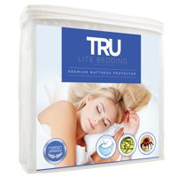tru lite bedding waterproof mattress protector - hypoallergenic mattress cover - premium cotton terry bed protector - protects from dust mites, allergens, germs, stains, odors - full standard size
