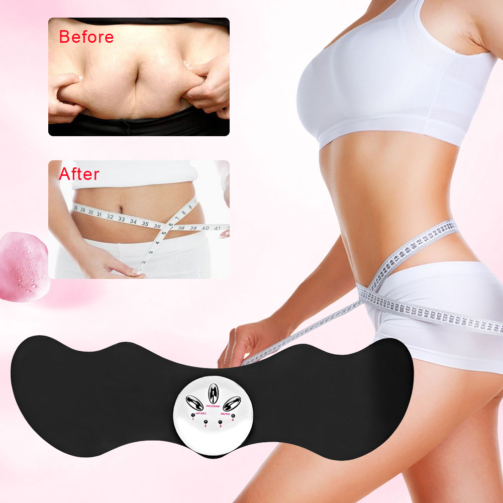 Tbest Electric Massage Belt Slimming Fat Burning Weight Loss Relieve Fatigue Pain Belt Massager,Slimming Patch, Massage Belt