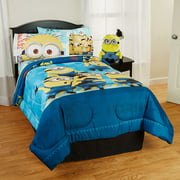 Despicable Me Comforter, Kids Bedding, Twin/Full, Reversible, Blue, Minions