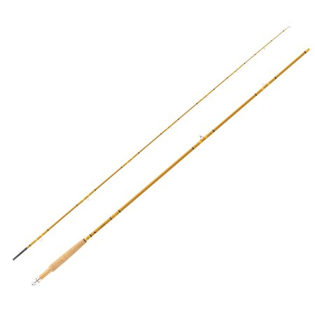 "Eagle Claw Crafted Glass Fly Rod 8'6"" Length, 2 Piece, Honey Gold Glass, Medium"