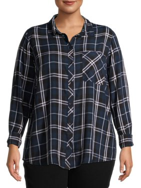 Terra & Sky One Pocket Plaid Button Down