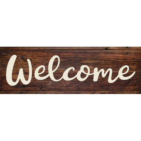 Welcome Rustic Looking Wood Sign Wall Décor Gift 8x24 Wood Sign B3-08240028121