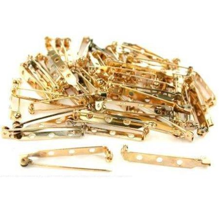 (60 Bar Pin Backs Broach Hat Badge Jewelry Safety Parts)