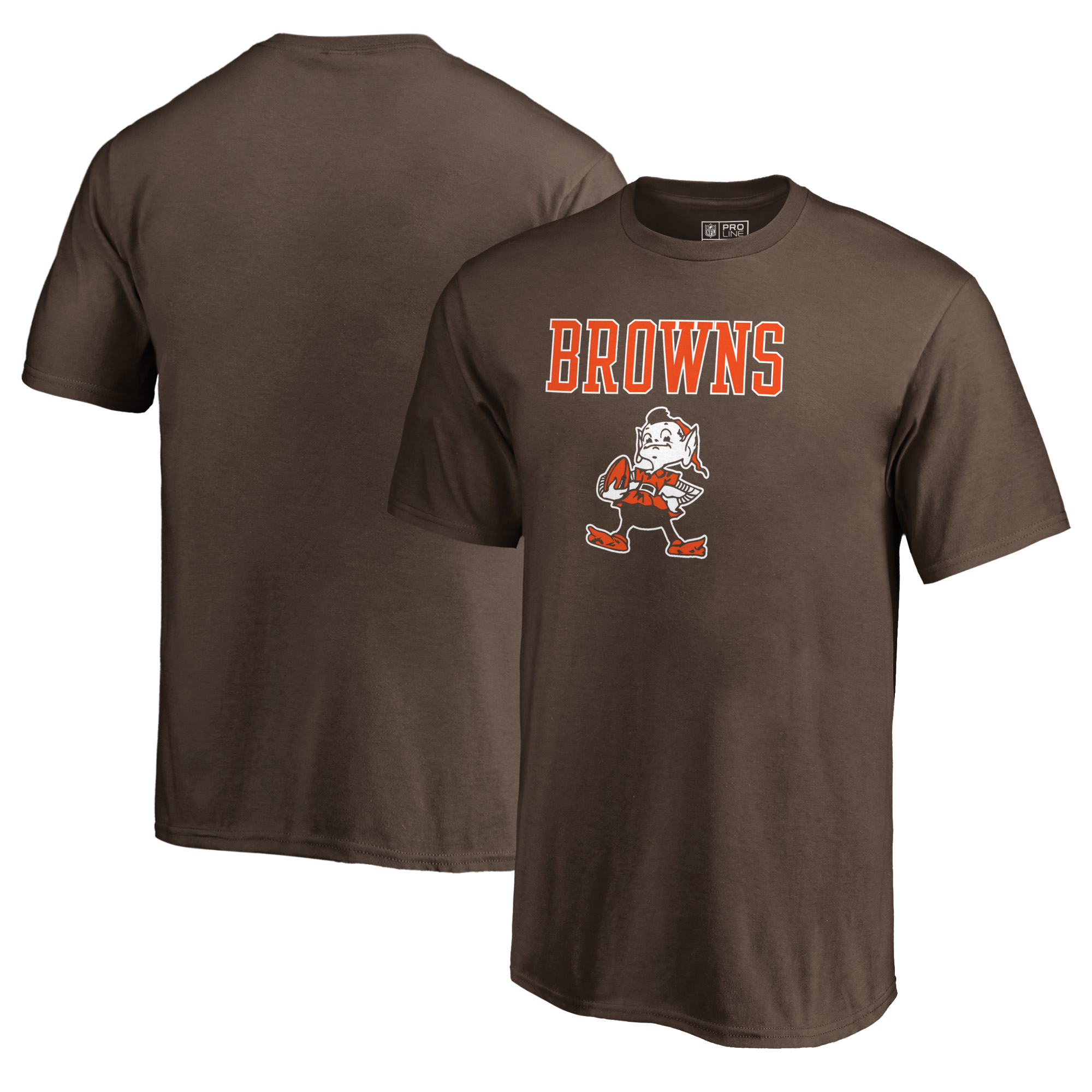 Cleveland Browns NFL Pro Line by Fanatics Branded Youth Vintage Team Lockup T-Shirt - Brown
