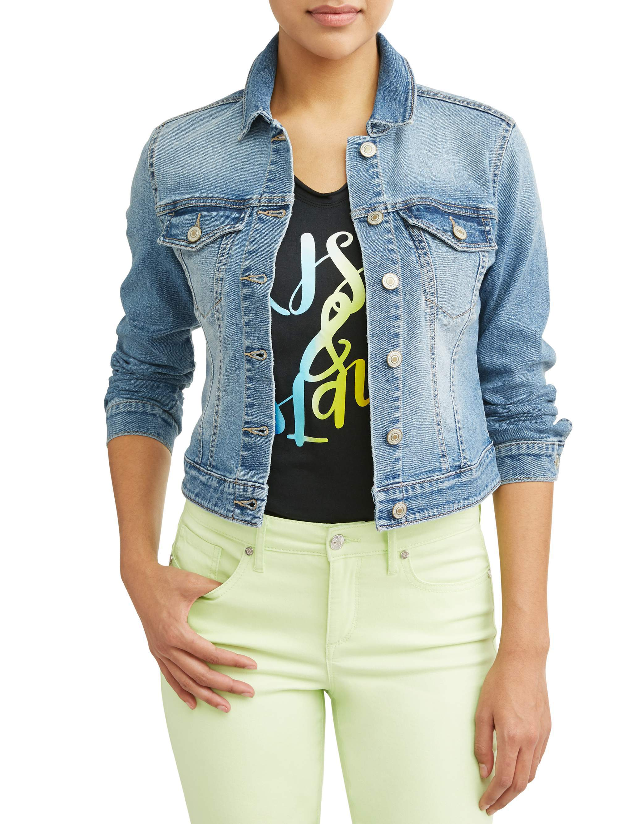 fast delivery hot-selling authentic 2019 discount sale Marianella Soft Stretch Washed Denim Jacket Women's (Light Wash)