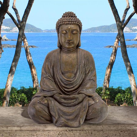 Design Toscano Meditative Buddha of the Grand Temple Garden Statue: Medium