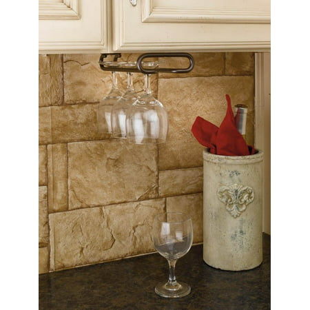 Rev-A-Shelf - 3150-16ORB - 16 in. Oil Rubbed Bronze Under Cabinet Wine Glass Holder