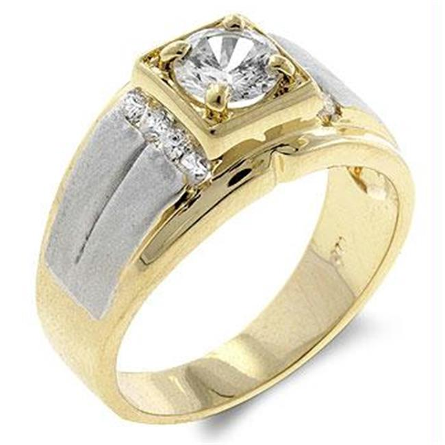 CZ Eye Cut Mens Ring, <b>Size :</b> 09