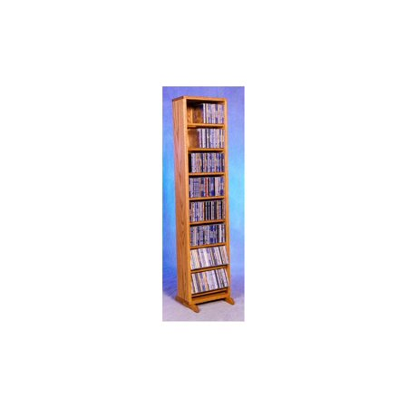 12.25 in. Dowel CD Storage Tower (Honey Oak)