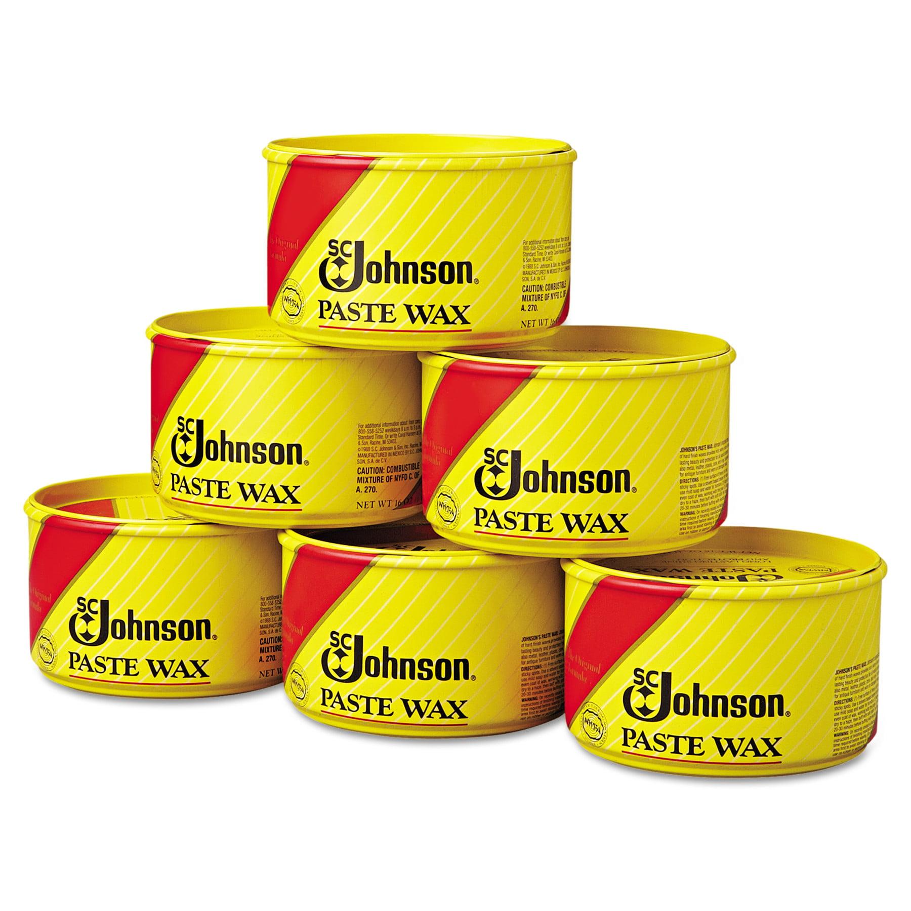 SC Johnson Paste Wax, Multi Purpose Floor Protector, 16oz Tub, 6/Carton    Walmart.com