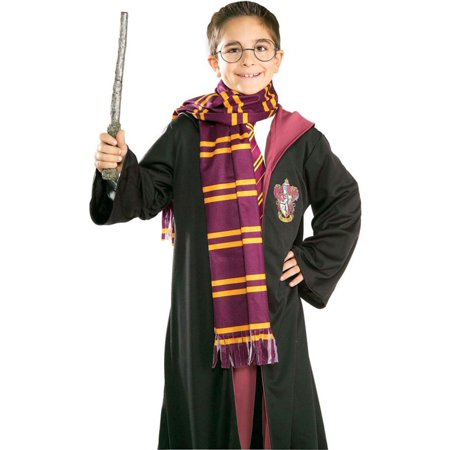 Morris Costumes Burgundy With Yellow Stripes Harry Potter Scarf, Style RU2314](Harry Potter Infinity Scarf)