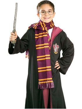 Morris Costumes Burgundy With Yellow Stripes Harry Potter Scarf, Style RU2314