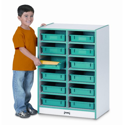 Rainbow Jonti-Craft Paper-Tray 12 Compartment Cubby