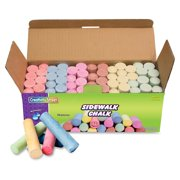 "Creativity Street Sidewalk Chalk, 4"" x 1"" Diameter. Jumbo Stick, 12 Assorted Colors, 52 Pieces/Each Case"