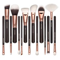 Professional makeup brush kit- 15 piece set. Soft bristles. Durable and easy to clean. Makeup brushes for powder, contour, blush, concealer, eye shadow, eye contour, brow, lip and more