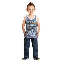 Star Wars R2-D2 Navy Snow Heather Boys Tank