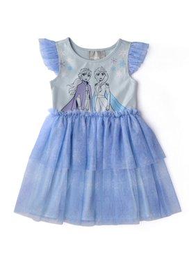 Disney Frozen 2 Elsa And Anna Flutter Sleeve Tutu Dress