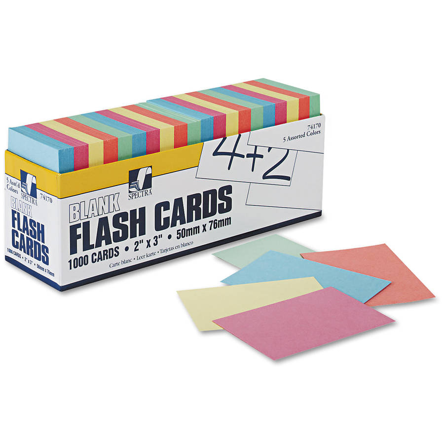 Pacon Blank Flash Card Dispenser Boxes, Assorted, 1,000pk