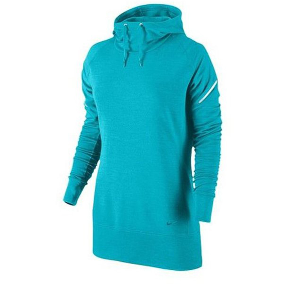 Nike Womens Dri Fit Wool Hoodie Shirt Aqua Blue by Womens Wool Coats