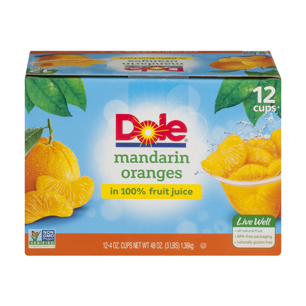 Dole�� Mandarin Oranges in 100% Fruit Juice 12-4 oz. Cups