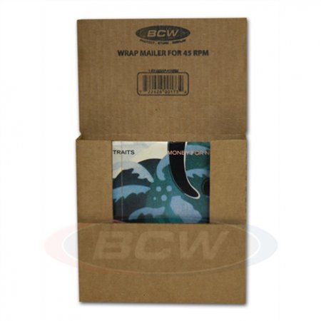 1 BCW Wrap Mailer for 45 RPM Record