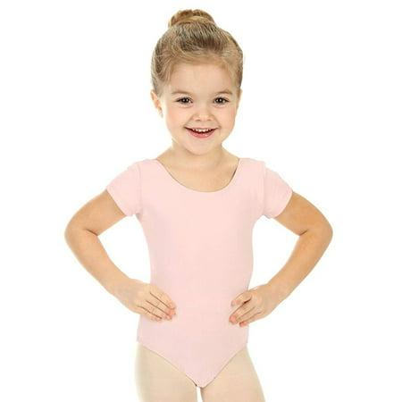 Elowel Girls' Team Basics Short Sleeve Leotard White (size-8-10 ) - image 4 of 4