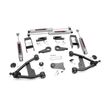"Rough Country 2.5"" Suspension Leveling Lift Kit w Premium N3 Shocks for Select Chevy S10 GMC S15 Blazer Jimmy 24230"