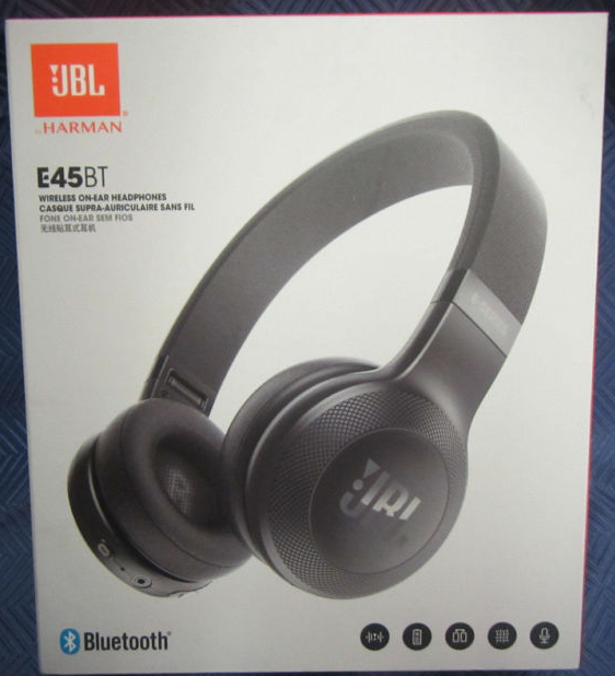 Refurbished JBL E45BT On-Ear Wireless Headphones, Black