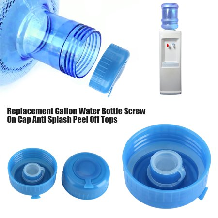 Pack of 5 Non Spill Cap Anti Splash Bottle Caps Reusable for 55mm 3 and 5 Gallon Water Jugs with Water Bottle Handle
