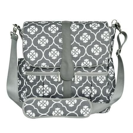 JJ COLE Backpack Diaper Bag - Gray Floret