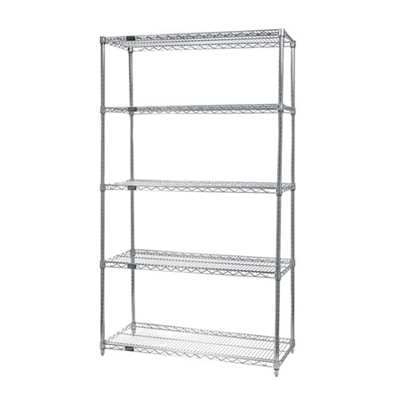 Quantum Wire Shelving 5 - Shelf Starter Unit 12\