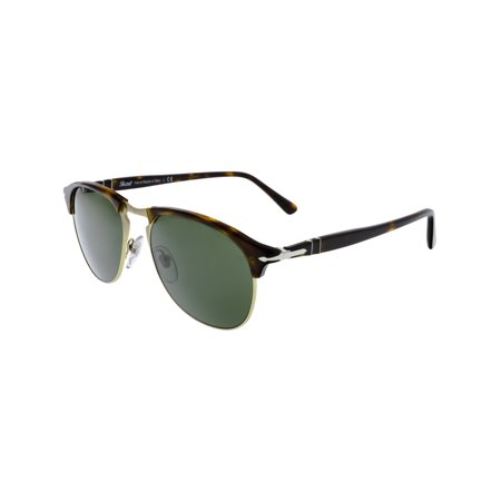 Persol PO8649S-24/31-53 Brown Aviator Sunglasses ()