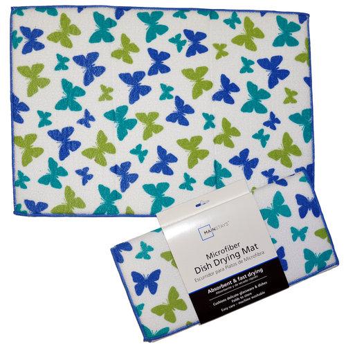 Mainstays Microfiber Dish Drying Mat, Butterfly Print