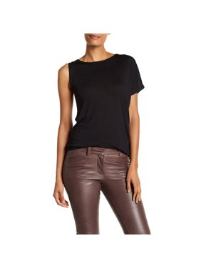 Halston Asymmetric Solid Top Womens ZAJ111178-BLACK