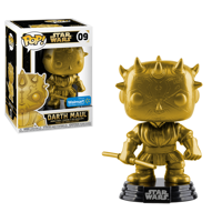Funko POP Star Wars: Darth Maul (Gold Metallic) - Walmart Exclusive