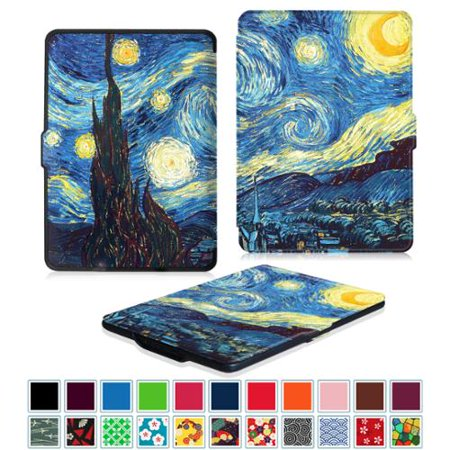 Fintie SlimShell Case for Amazon Kindle Paperwhite Gen Prior to 2018, Not Fit All-new Paperwhite 10th Gen, Starry (Ipad Mini Vs Kindle Paperwhite For Reading)