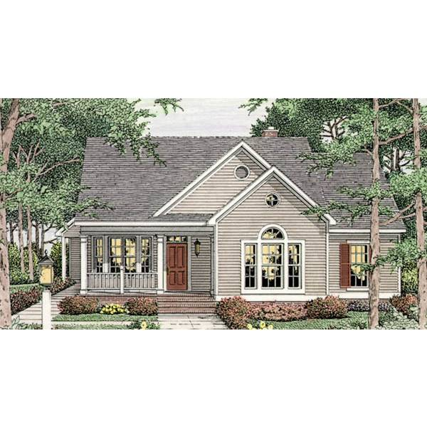 TheHouseDesigners-3644 Cottage House Plan with Slab Foundation (5 Printed Sets)