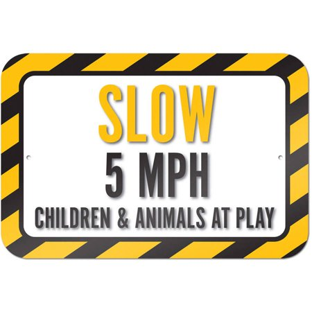 Slow 5 MPH Children And Animals At Play