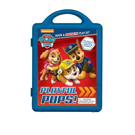 PAW Patrol: Playful Pups!: Book & Magnetic Play Set](Nickelodeon Guts)